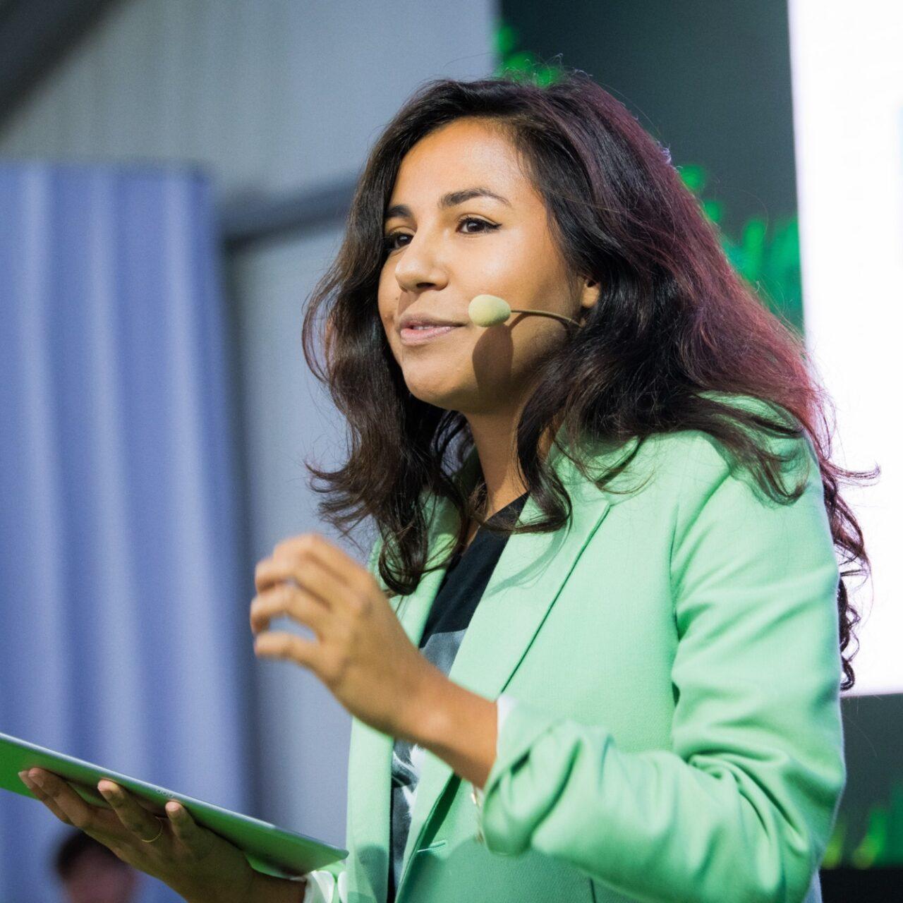 Talitha Muusse als spreker of dagvoorzitter